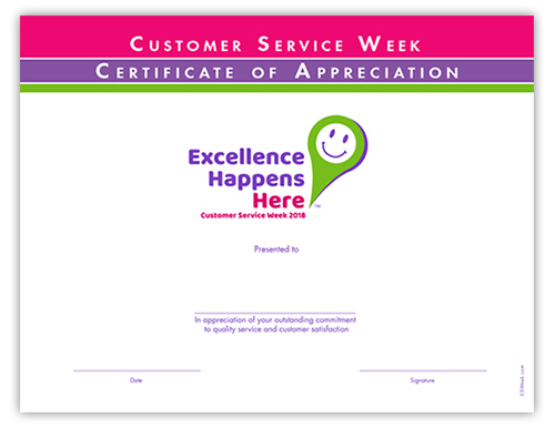 customer service week 2018 the celebration source